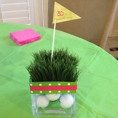 golf themed party supplies | Pinterest idea for golf party decorations | Golf Themed 30th Bday