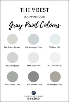 LEARN all about the best gray and greige paint colours from Sherwin Williams and Benjamin Moore. These color could be for 1 room or your WHOLE home, great for new homes and home staging! Most Popular Paint Colors, Best Gray Paint Color, Greige Paint Colors, Neutral Paint Colors, Interior Paint Colors, Paint Colors For Home, Grey Colors, Best Paint For Home, Paint Colors For Bathrooms