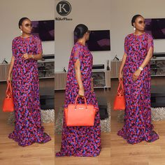 The Tiara Kaftan in a new fabric😘😍 Be Kikswoman, Stand different For all enquiries and to place an order kindly Dm or WhatsApp African Maxi Dresses, African Fashion Ankara, Latest African Fashion Dresses, Ankara Dress, African Print Fashion, African Attire, African Wear, African Outfits, African Lace