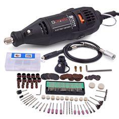 220 V Mini Taladro Eléctrico Para Dreme Herramienta Rotativa de Velocidad Variable Mini Taladro con Eje Flexible y 160 unids Dremel accesorios