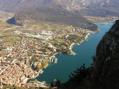 Riva del Garda - Garda Lake, Italy Riva Del Garda, Italian Lakes, Lake Garda, Lake Como, Holiday Destinations, Places To Travel, City Photo, Europe, River