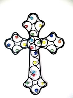 Large Colorful Wall CrossConfetti Faith by CoalCreekCrossing, $35.00