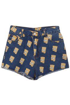 ROMWE | Simpson Dark Blue Shorts, The Latest Street Fashion