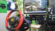 [21] Xbox One Forza 6  Thrustmaster Ferrari 458 Spider Racing Wheel Game...