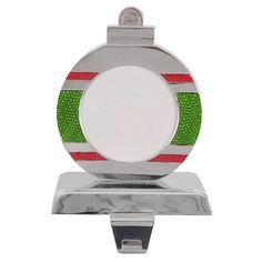Striped Holiday Stocking Holder - Green and Red with Chrome Finish  $10 @ Target Pet Stockings, Stocking Holders, Chrome Finish, It Is Finished, Holiday, Green, Target, Style, Swag