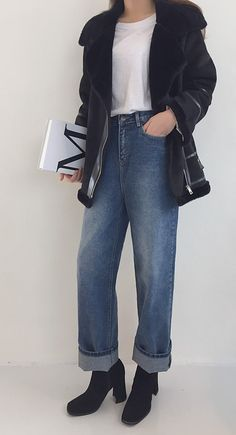 Hit your stride in style in these vintage wide leg jeans! Wide Leg Jeans, Normcore, My Style, Pants, Vintage, Fashion, Trouser Pants, Moda, Trousers