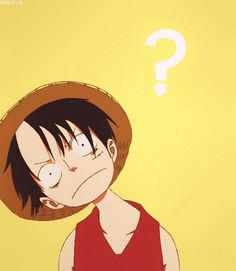 Luffy looking confused ( One Piece )