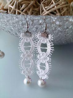 ivory wedding jewelry bridal earrings by AccessoriesByAtlas