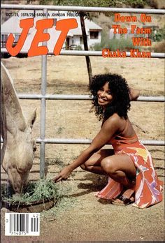 Chaka Khan down on the farm, Jet magazine, October 1978 Jet Magazine, Black Magazine, Afro, Vintage Black Glamour, Vintage Beauty, Black Girls Rock, Black Girl Magic, Black Power, Chaka Khan