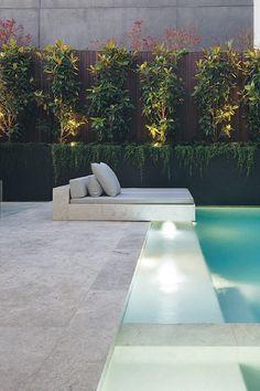 39 Beautiful Pool Design For Your Backyard ~ Ide. 39 Beautiful Pool Design For Your Backyard ~ Ideas for House Renova Backyard Pool Landscaping, Backyard Pool Designs, Swimming Pools Backyard, Swimming Pool Designs, Backyard Ideas, Landscaping Ideas, Backyard With Pool, Courtyard Pool, Piscina Rectangular