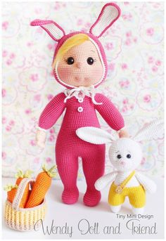 Crochet Pattern-Bunny Costume Wendy Doll and by TinyMiniDesign