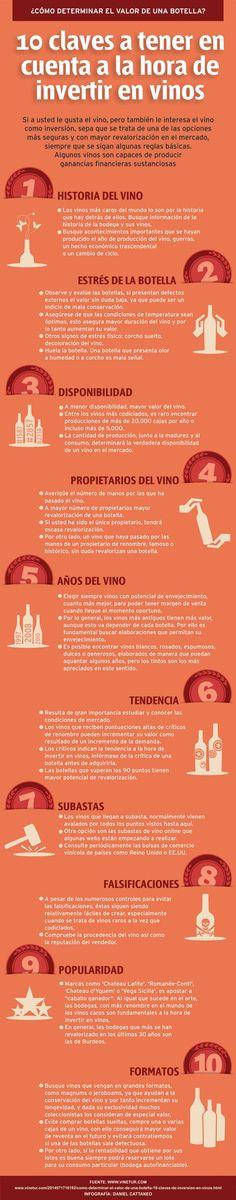 10 claves para invertir en vinos #infografia