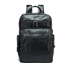 The new men s bags backpack new leather backpack large capacity travel bag  Review Leather Backpack For e96329632b943