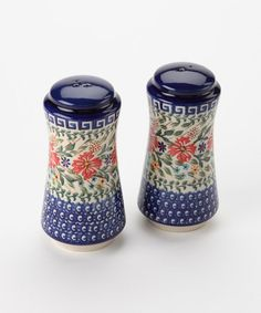Take a look at this Blue Floral Salt & Pepper Shakers by European Design Imports on #zulily today! $40