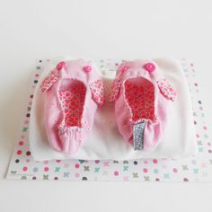 Toddler Shoes Zezling Bunny slippers Pink Soft sole by Zezling