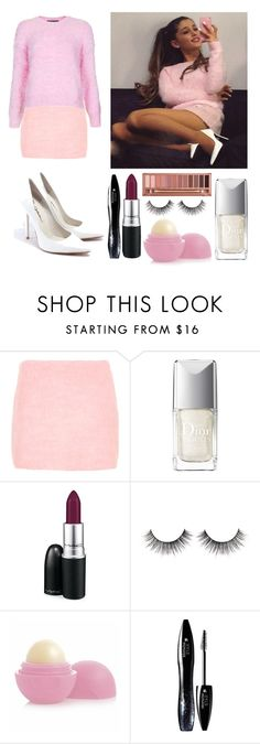 """""""Ari ♥"""" by shanelle-khl ❤ liked on Polyvore featuring Topshop, Jeffrey Campbell, Christian Dior, MAC Cosmetics, Urban Decay, Eos and Lancôme"""