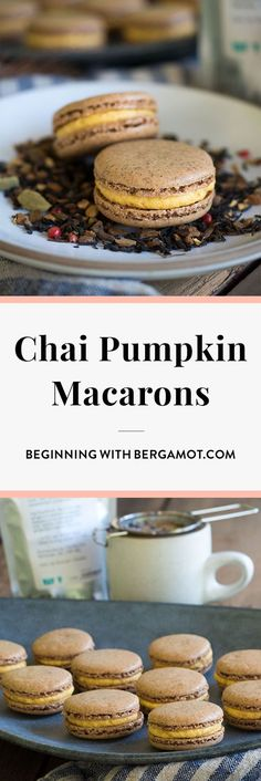 Spicy chai tea cookies and pumpkin buttercream come together to create this warm and cozy Chai Tea Pumpkin macaron perfect for fall. Get the recipe plus the tips and tricks I found to baking technically perfect macarons. Try this gluten free dessert this autumn!