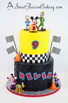 Mickey & the Roadster Racer Cake www.sweetpassioncakery.com