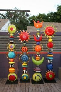 Bold and bright totems