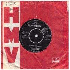 """7"""" 45RPM Hippy Hippy Shake/Now I Must Go by The Swinging Blue Jeans from His Master's Voice (POP 1242)"""