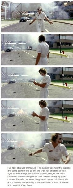 Opportunity, heath ledger, joker....also one of the best parts of the dark knight