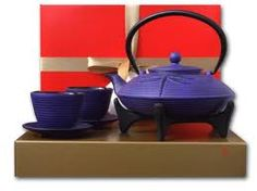 japanese teapot cast iron dragonfly purple