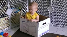 Tristan loves to Sit in boxes!
