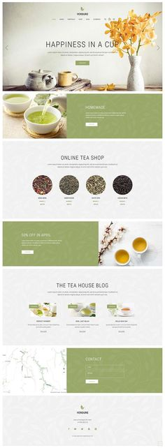 Swiftly create a perfect website for your tea house or shop with Verdure WordPress theme and its gorgeous layouts & elements. Layout Design, Website Design Layout, Web Layout, Portfolio Website Design, Blog Design, Design Design, Graphic Design, Website Design Inspiration, Best Website Design