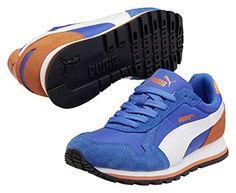 Puma Future ST Runner Jr, Unisex-Kinder Sneakers, Blau (strong blue-white-peacoat 02), 38.5 EU (5.5 Kinder UK)