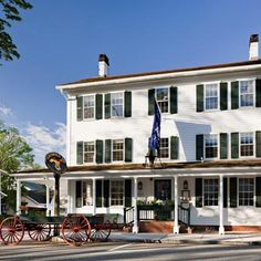 """Griswold Inn     Date Opened: 1776    Location: Essex, CT    The brass-bell and maritime-painting-bedecked Griswold Inn resides in a quaint colonial harbor town located about 40 miles from Hartford. The """"Gris,"""" as it's known by locals, has served George Washington, Mark Twain, Albert Einstein, and Katharine Hepburn, in addition to countless whalers, fishermen, steamboat captains, and townspeople."""
