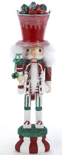 Candy Bucket Soldier Wooden Hollywood Christmas Nutcracker