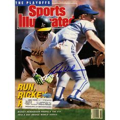 Steiner Rickey Henderson Signed 10/16/89 Sports Illustrated Magazine