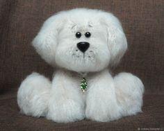 Купить Пёс Пушистик игрушка вязаная крючком в интернет магазине на Ярмарке Мастеров