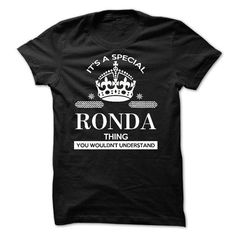 Its a special RONDA thing - #gift sorprise #couple gift. PURCHASE NOW => https://www.sunfrog.com/Names/Its-a-special-RONDA-thing.html?68278