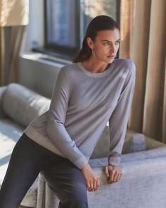 Irina Shayk Falconeri Ultralight Cashmere Campaign | Fashion Gone Rogue Campaign Fashion, Irina Shayk, Cute Asian Girls, Italian Fashion, Fashion Labels, Get The Look, Cashmere Sweaters, Female Models, Supermodels