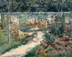 Edouard Manet「bench in the Garden at Versailles」(1882)