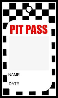 Pit Pass Name Tags