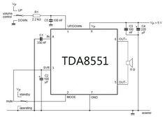 Mini amplifier with digital volume control schematics