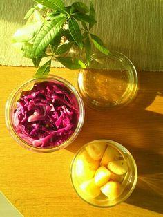 紫キャベツの酢漬け 新じゃがの酢漬け