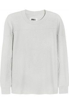 MM6 Maison Martin Margiela Reversible cotton-terry sweatshirt | NET-A-PORTER
