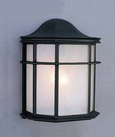 """View the Volume Lighting V8879 1 Light 10"""" Height Outdoor Wall Sconce with White…"""