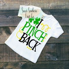 FREE SHIPPINGI Pinch Back Patricks Day by SweetSouthernCraftCo