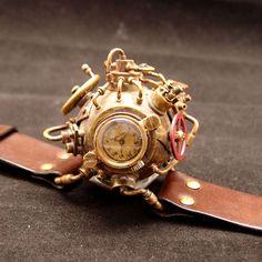 ガラクトーン  X  ゴシックラボラトリー コラボレーション スチームパンク腕時計