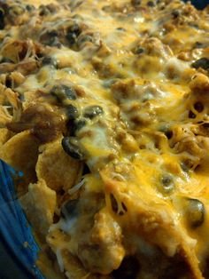Walking Taco Casserole....cheesy melty goodness!