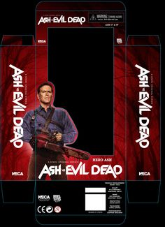 """Today is the immortal Bruce Campbell's 58th birthday! In honor of the day, NECA has shared a photo of the """"Hero Ash"""" packaging for their Ash vs Evil Dead line. The 7″ scale figure will come packaged in their collector friendly window box packaging, as opposed to the plastic backer we normally see. Ash is back, baby! NECA presents a new line of action figures based on the Starz TV series Ash vs. Evil Dead. The series follows Ash, stock boy, aging lothario and chainsaw-handed monster hunter…"""
