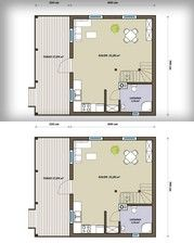 SENDOM.PL - Producent domów drewnianych Kiosk Design, Tiny House, Floor Plans, Interior Design, Wooden Houses, Ideas, Log Projects, Nest Design, Timber Homes