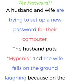 The Password- Funny Story ! Funny As Hell, Haha Funny, Funny Stuff, Great Stories, Funny Stories, Funny Quotes, Funny Memes, Jokes, Wife Humor