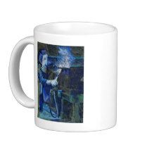 Man at Work,FOR left-handed person Classic White Coffee Mug