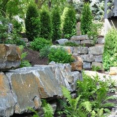 Boulders for retaining walls