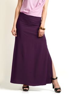 Women Purple Maxi Skirt found on klip.in